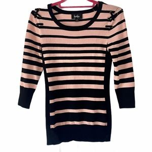 NWOT By & By Striped Sweater